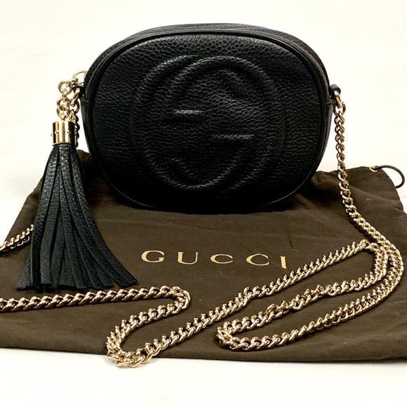 Gucci Handbags - Authentic Gucci Soho Mini Round Chain Black
